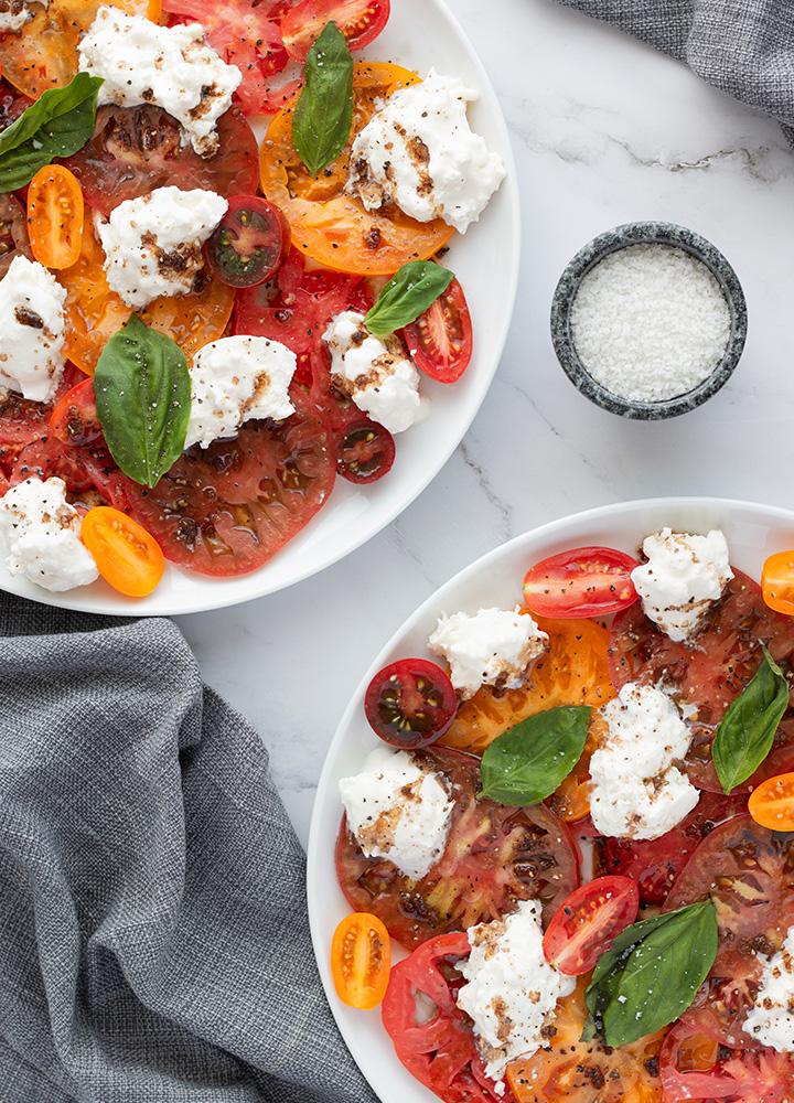 Tomates burrata, tout simplement